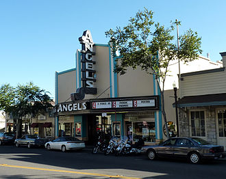 Angels Camp, California - Built in 1936, the Angels Theatre was renovated in 1999 and split from one screen into three; two additional screens later were added to the structure.