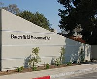 Bakersfield Museum of Art entrance sign.