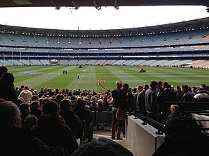 2013 AFL Grand Final - Image: 2013 AFL Grand Final pre game