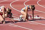 2013 IPC Athletics World Championships - 26072013 - Katarzyna Piekart of Poland and Tereza Jakschova of Czech Republic during the Women's 100m - T46 second semifinal.jpg