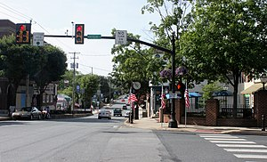 Elizabethtown, Pennsylvania - Town Square at High and Market Streets, 2013