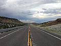 2014-07-18 19 03 39 View east along U.S. Route 6 about 7.0 miles east of the Nye County Line in White Pine County, Nevada.JPG