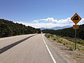 2014-08-09 11 17 53 View east on U.S. Routes 6 and 50 and south on U.S. Route 93 about 59.1 miles east of the Nye County line at Connors Pass, Nevada.JPG