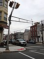 2014-12-20 14 49 17 Horizontally-mounted traffic light at the intersection of Calhoun Street (Mercer County Route 653) and Spring Street in Trenton, New Jersey.JPG
