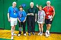 2014 US Senior International Badminton Championships, Miami Lakes - 70MX - Marg Hudson-Murray Foubister (Canada) - Gold - Heini Johannsen (Denmark)-Eliana Schroder (Peru)-Silver (12260170386).jpg