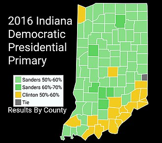 2016 United States presidential election in Indiana - Image: 2016Indiana Democratic Presidential Primary