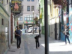 Jack Kerouac Alley - Jack Kerouac Alley as seen from Columbus Avenue (2017)