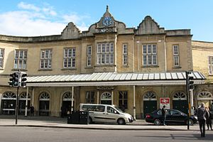 Bath Spa railway station - Main buildings seen from Dorchester Street