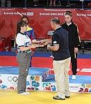 2018-10-07 Judo Girls' 44 kg at 2018 Summer Youth Olympics – Victory ceremony (Martin Rulsch) 07.jpg