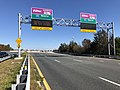 2018-10-30 12 40 22 View east along Virginia State Route 289 (Franconia-Springfield Parkway) at the exit for the Interstate 95 EZPass Express Lanes in Springfield, Fairfax County, Virginia.jpg