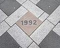 2018 Maastricht, Plein 1992, bronzen tegel.jpg