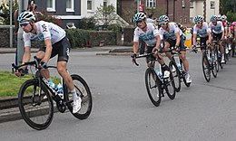2018 Tour of Britain stage 2 173 Lucasz Wisniowski and Team Sky.JPG