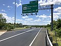 2019-06-14 13 26 34 View south along the Inner Loop of the Baltimore Beltway (Interstate 695) at Exit 40 (SOUTH Maryland State Route 151-North Point Boulevard, Sparrows Point) in Dundalk, Baltimore County, Maryland.jpg