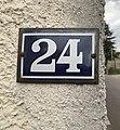 24, rue des Andrés, numéro de rue à Saint-Maurice-de-Beynost (Ain, France).jpg