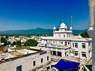 Anandpur Sahib City in Punjab, India