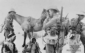 2nd Light Horse Regiment (Australia) - 2nd Light Horse patrol at Gererat in the Sinai 1917