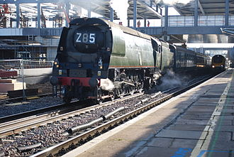2015 Wootton Bassett SPAD incident - 34067 Tangmere was the locomotive hauling the charter train