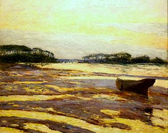 Maxime Maufra - Yellow dusk on the mudflats, Loctudy