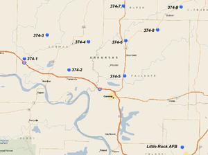 374th Strategic Missile Squadron - LGM-25C Titan II Sites
