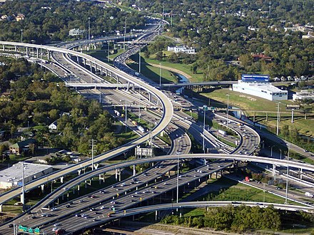 I-45 and I-10/U.S. 90 near Downtown Houston 45intoI-10 2.jpg