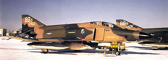 45th Reconnaissance Squadron - Squadron TRS RF-4Cs on the ramp at Bergstrom AFB, 1972