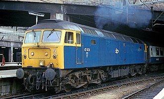 British Rail Class 47 - 47474 at Birmingham New Street in 1987