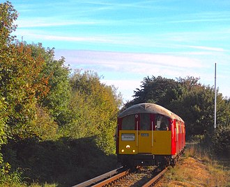 London Underground 1938 Stock - Island Line Class 483 No. 008 arrives at Shanklin