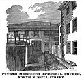 4thMethodistEpiscopal NRussellSt Boston HomansSketches1851.jpg