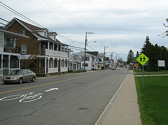 Grand-Mère, Quebec - 50e Avenue in Sainte-Flore. Sainte-Flore was a separate parish municipality until 1970 when it was amalgamated into Grand-Mère.