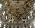 6-Wallfahrtskirche Birnau - Innenraum - Blick zur Orgel mit Deckenfresken des Langhauses.jpg