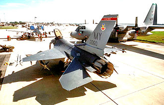 68th Fighter Squadron - 68th Fighter Squadron F-16C Fighting Falcon at Moody AFB in July 1995