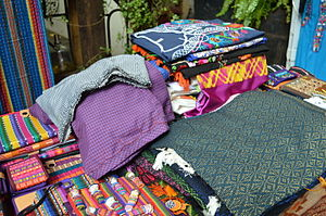 Handcrafts and folk art in Chiapas - Sampling of Chiapas textiles