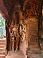 6th century standing Vishnu at entrance in Cave 3, Badami Hindu cave temple Karnataka.jpg