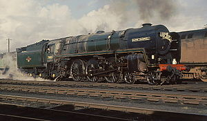 British Rail - BR steam locomotive: number 70013 Oliver Cromwell