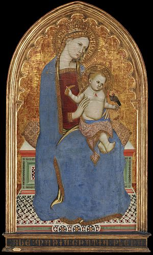 Cecco di Pietro - Image: 7 Cecco di Pietro, Madonna and Child, Copenhagen Statens Museum for Kunst