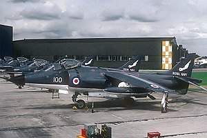 RNAS Yeovilton (HMS Heron) - BAe Sea Harrier FRS1 of 899 Naval Air Squadron at Yeovilton Naval Air Station in 1982.