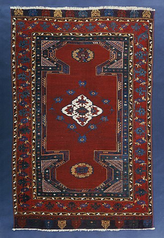 Turkish carpet - Image: 9Double Niche Carpet LACMA M.2004.32