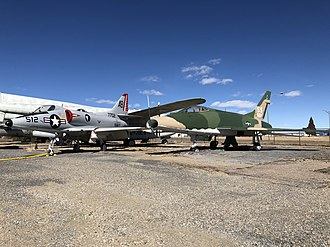 Pueblo Weisbrod Aircraft Museum - Pueblo Weisbrod Aircraft Museum's Douglas A-4C Skyhawk and North American F-100D Super Sabre.