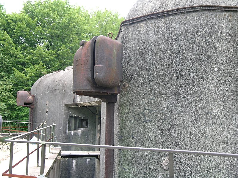 Searchlight, Bois-Karre, Maginot Line, France.