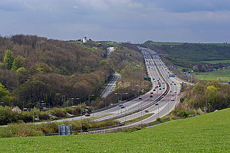 A27 road - A27 near Brighton and Hove, East Sussex