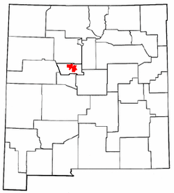 Location in the state of New Mexico