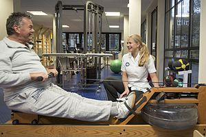 Anglo-European College of Chiropractic - Patient in the AECC exercise centre
