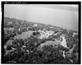 AERIAL VIEW OF PROPERTY FROM NORTHEAST - Lyndhurst, Main House, 635 South Broadway, Tarrytown, Westchester County, NY HABS NY,60-TARY,1A-67.tif
