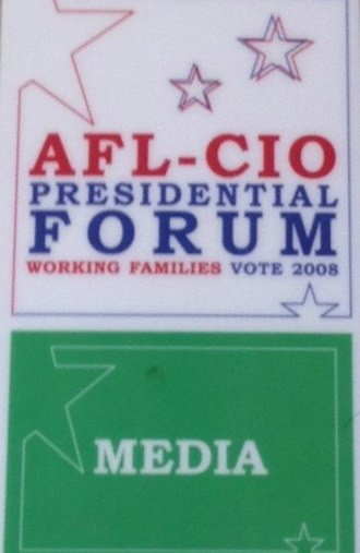 Democratic Party presidential debates and forums, 2008 - Media pass
