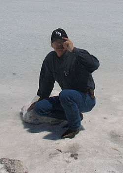 Alfred Young Man, at Bonneville Salt Flats