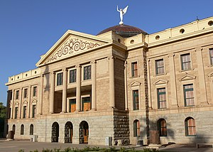 25th Arizona Territorial Legislature -  View of the original Arizona State Capitol building