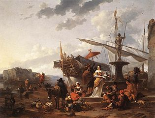 Scène portuaire