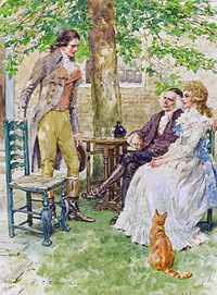 A Tale of Two Cities - Dr Manette and Lucie with Charles Darnay, by Charles Edmund Brock.jpg