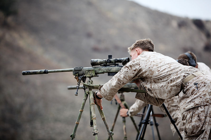 File:A U.S. Marine Corps scout sniper with Weapons Company, 1st ...