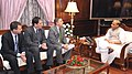 A delegation led by the Ambassador of Israel to India, Mr. Daniel Carmon calls on the Union Home Minister, Shri Rajnath Singh, in New Delhi on August 29, 2014.jpg